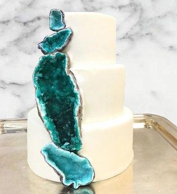 Geode Wedding cake